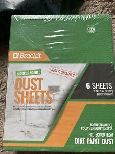 Bnib Brackit Biodegradable Dust Sheets Pack Of 6