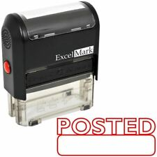 POSTED - ExcelMark Self Inking Rubber Stamp A1539 - Red Ink