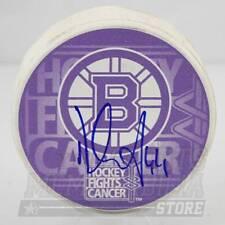 Dennis Seidenberg Boston Bruins Signed Autographed Hockey Fights Cancer Puck