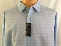 Van Heusen Light Blue Long Sleeve Button Front Shirt Mens Sz XXL 18 - 18.5
