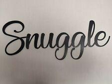 Snuggle Letters lettering Sign Metal Home bar Pub Vintage Beer
