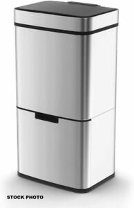 Morphy Richards Kitchen Bin, Pro Recycling Sensor 2 Compartments, Food Caddy 75L