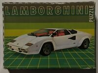 Lamborghini Countach 5000 S Vintage Mini Puzzle Made In West Germany