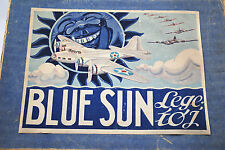 Rare BLUE SUN USAAF BOEING B-17 G Fortress Air-Plane WW2 Bomber Made in Denmark