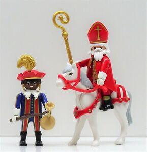 Sinterklaas + De Zwarte Piet Playmobil To st Nicholas Christmas Santa