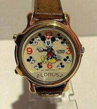 Lorus Walt Disney Musical Mickey Mouse Quartz Unisex Watch V422-011 Leather Band