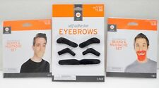Halloween Decor 2 Beard & Mustache Sets & Self Adhesive Eyebrows