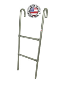 All Metal Trampoline Ladders 2-step or 3-Step in 2 colors