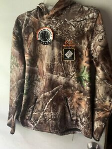New YOUTH Realtree Edge Tech Hoodie Camo Hunting w/ Built-In Face Neck Gaiter