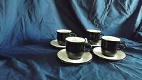 Noritake FolkStone Set of 4 Flat Cups With Saucers  Vintage New Santa Fe