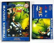 SEGA/Virgin Mega Drive EARTHWORM JIM Hülle/Anleitung BOX/MANUAL PAL Kein Spiel