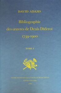 Adams, Bibliographie des œuvres de Diderot