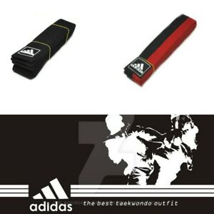 Adidas Taekwondo Belt Black Red Karate Martial Aart Judo Hapkido 170 190 210cm🔥