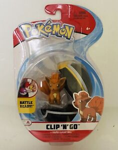 NIB Pokemon Clip 'n' Go Vulpix + Luxury Ball Action Figure Toy