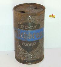 1960 Richbrau Bock Flat Top Beer Can Silver Home Richmond,Va. Virginia No Goat