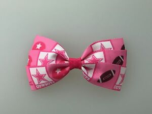 Pink Dallas Cowboys Hair Bow with Alligator Clip