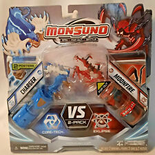 """2012 Monsuno """"CHARGER vs MOONFIRE"""" 2 Pack~2 Figures~2 Cores~2 Posters~NIB"""