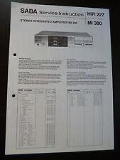 Original Service Manual SABA MI 380