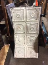 "Architectural Salvage 24"" x 48"" Antique Tin Ceiling Tile Metal Vintage Set of 10"