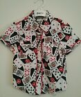 Boys Rock Your Baby shirt size 3 rockabilly red white black cool