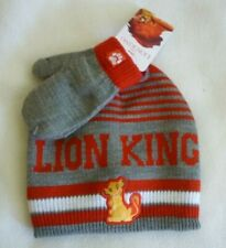 New Toddler Boys Lion King Hat Mittens 2 Piece Set