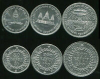 CAMBODIA SET 3 COINS 50 100 200 RIEL 1994 UNC