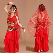 ADN01# Kinder Mädchen Bauchtanz Kostüm (Oberteil, Rock...) 6 Farben 3 Größen