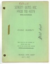 * Double Indemnity - Danger Is My Business (1957) Revised Final Draft Script