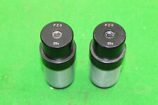 Pair of PZO 25x Microscope Objective Lens Optical Spares