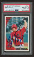2010 TOPPS PRO DEBUT MIKE TROUT EX-MT 6 WITH HARD AUTO 10 RC HOT!!!RARE