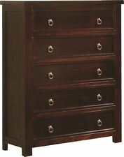 Sweet Dreams Curlew Mahogany 5 Drawer Chest Solid Wood Traditional Assembled