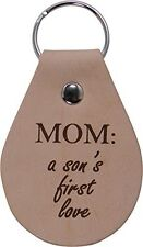Mom A Son's First Love Leather Key Chain - Great Gift for Mothers's Day Birth...