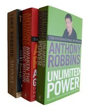 Anthony Robbins 3 Book Self Help Success Life Coach Finance Mind Power Pack  New