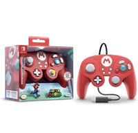 Nintendo Super Mario Bros. Wired Fight Pad Pro Controller Red Smash Ultimate NEW
