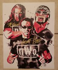 "NWO WCW ""THE OUTSIDERS"" KEVIN NASH & SCOTT HALL DUAL SIGNED 11X14"