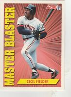 FREE SHIPPING-MINT-1991 Score Detroit Tigers #693 Cecil Fielder MASTER BLASTER