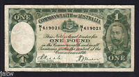 Australia R-28. (1933) One Pound.. Riddle/Sheehan.. Legal Tender Issue..  Fine+