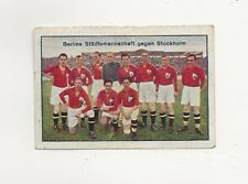 42/104 SAMMELBILD FUßBALL  - BERLIN STÄDTEMANNSCHAFT GEGEN STOCKHOLM - MANGEL