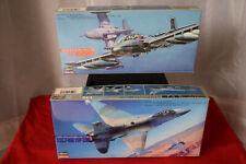 Hasegawa - LOT of 2 - Cessna A-37A/B & F-16N Top Gun Aircraft Model Kits - 1/72