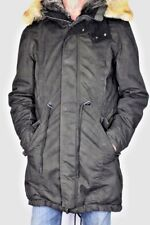 BE EDGY Herren winter Parka BEAMAN Jacke lang schwarz Kapuze Gr M 48 50 NEU HA37