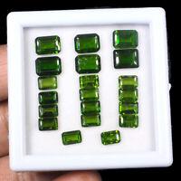 20 Pcs Natural Chrome Diopside 6mm-8mm Vivid Green Premium Quality Gemstones Lot