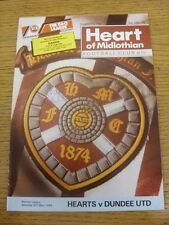 06/05/1989 Heart Of Midlothian v Dundee United [Autographed On Front By: Kevin G