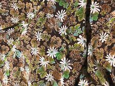 Tissu vintage soie ou acétate de soie ?  300  cm x larg 90 cm Réf /M86