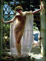 Art John Reinhard Weguelin Lesbia Ceramic Mural Backsplash Bath Tile #2602