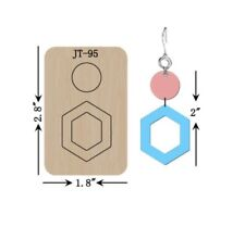 Leather  Earring Cutting  Die / Sizzix Compatible - JT95