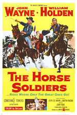 "john wayne THE HORSE SOLDIERS movie poster ""rides where greats go"" 24X36"
