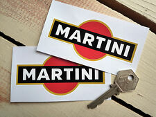 MARTINI Black 4inch Pair Classic Race Car Motorcycle STICKERS Vinyl Motorsport