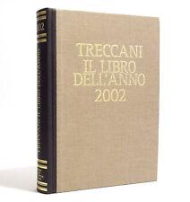 TRECCANI - IL LIBRO DELL'ANNO 2002 - VERSIONE LUSSO DORSO IN PELLE MARRONE E ORO