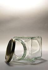 200G  X 32    SQUARE GLASS JAM JAR -  PICKLE, CHUTNEY, PRESERVES - 12OZ APPROX