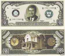 Two Ronald Reagan 40th US President Novelty Money Bills #P40